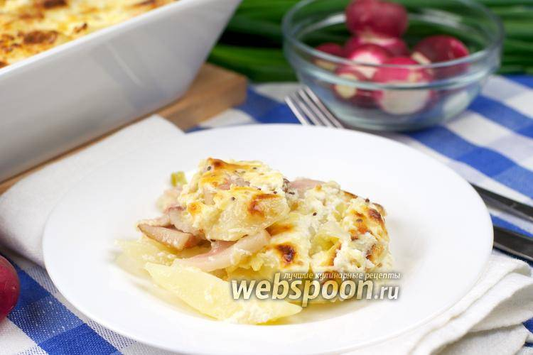 Картофельная запеканка – сытное и простое блюдо - с луком