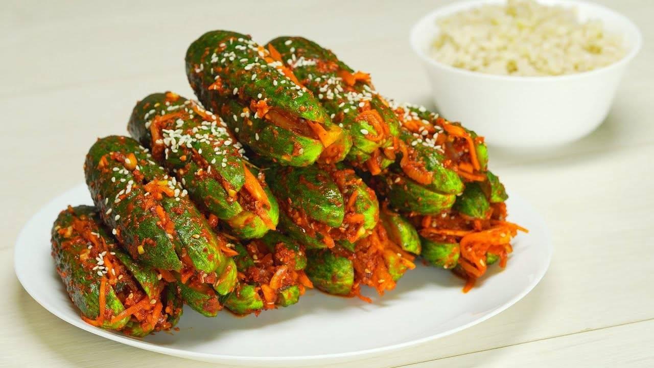 """Салат на зиму """"огурцы по-корейски с морковью"""" - 9 пошаговых фото в рецепте"""