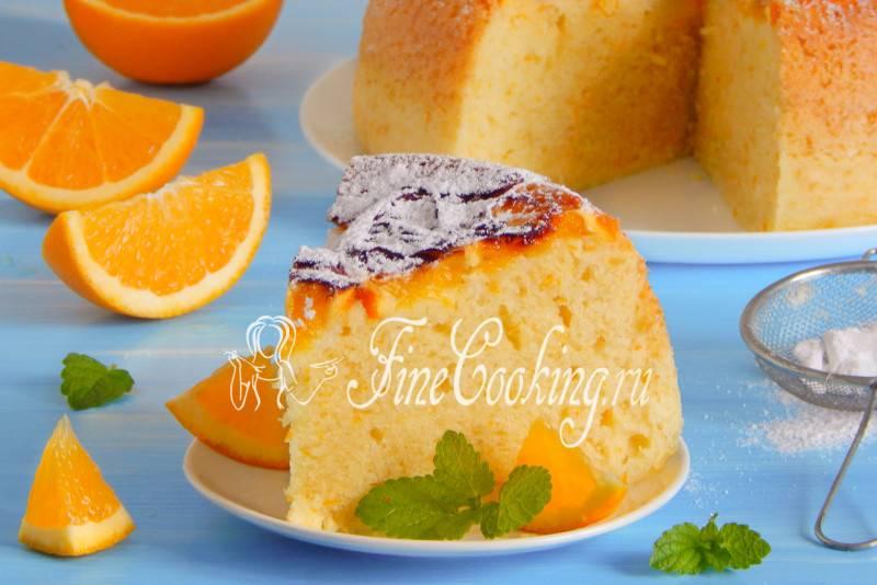 Мокрый апельсиновый кекс