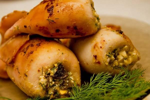 Фаршированный кальмар — подборка фото рецептов. как вкусно нафаршировать кальмары овощами, грибами, рисом
