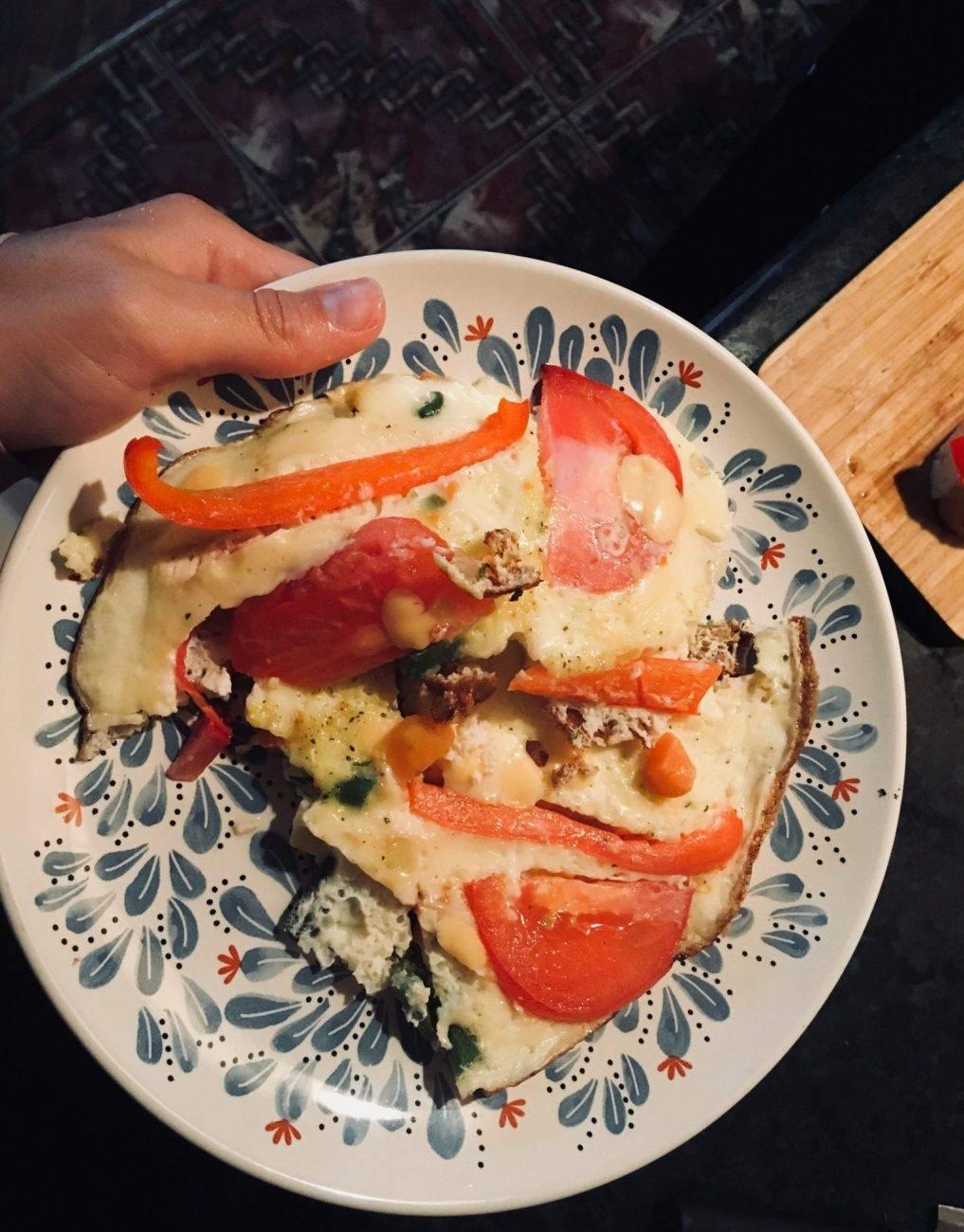 Рецепт яичница со спаржевой фасолью