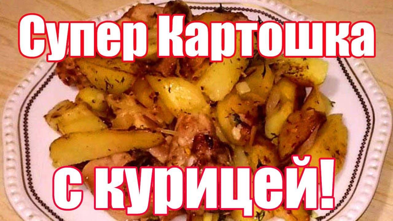 Тушеная картошка с куриным филе в кастрюле