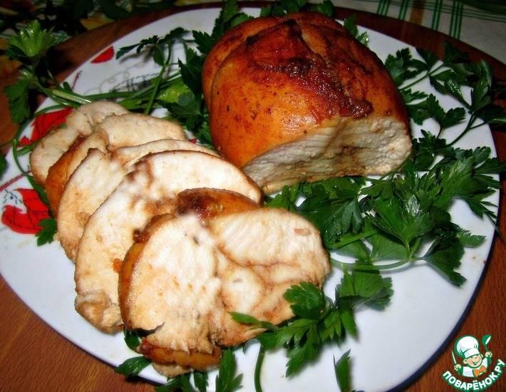 Куриные рулетик с имбирно-сливочным соусом