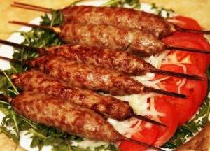 Люля кебаб из свинины на мангале рецепт