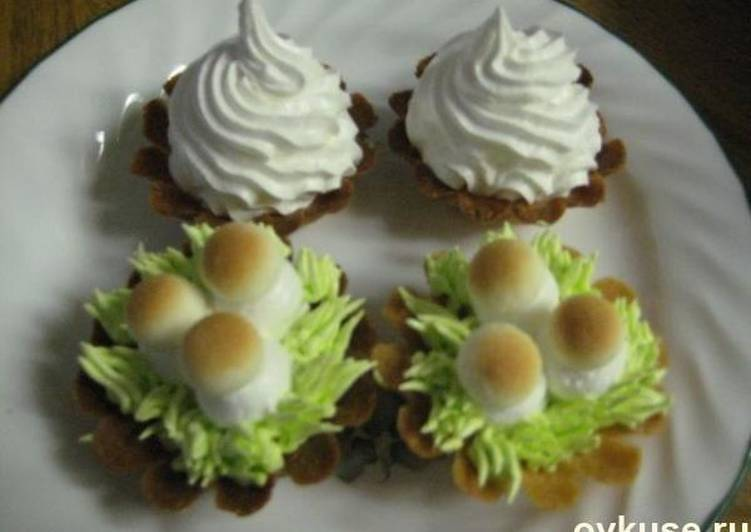Пошаговый рецепт приготовления пирожного «корзиночка»