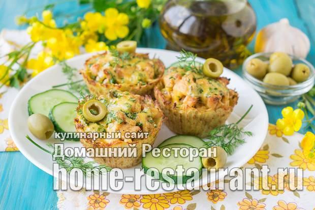 Тарталетки с курицей: пошаговый рецепт с фото
