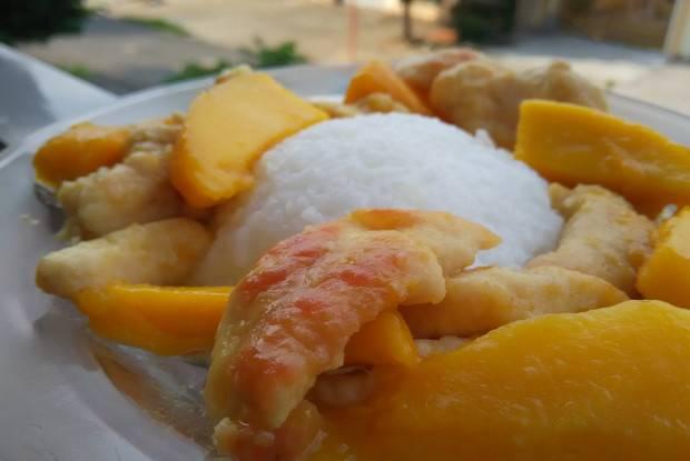 Куриные грудки с соусом из манго и перца