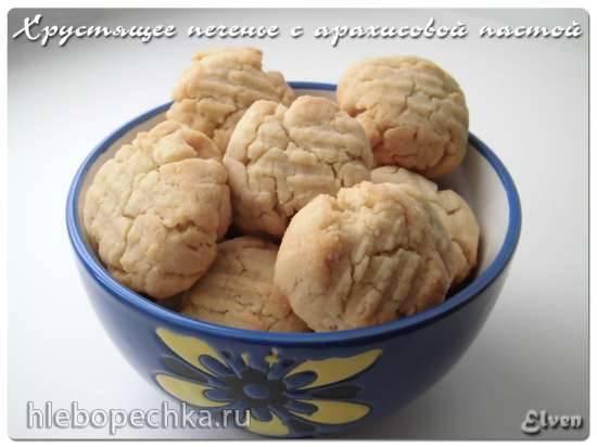 Печенье с арахисовой пастой и шоколадными каплями
