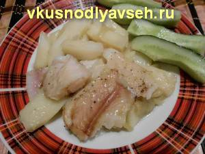 Пеленгас на сковороде