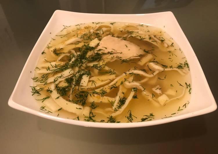 Суп с  лапшой из блинов - рецепт с фотографиями - patee. рецепты
