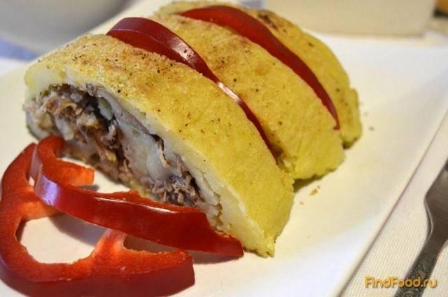 Мясной рулет с картофелем и грибами - рецепт с фотографиями - patee. рецепты