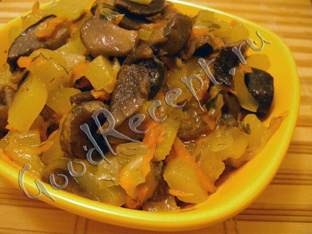 Кабачки тушеные с грибами. пошаговый рецепт с фото