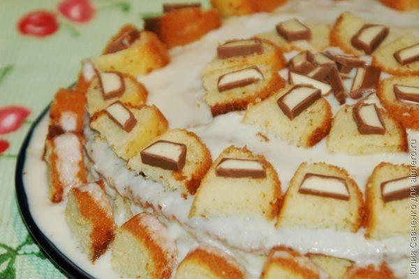 """Бисквитный торт с заварным кремом """"Неженка"""""""