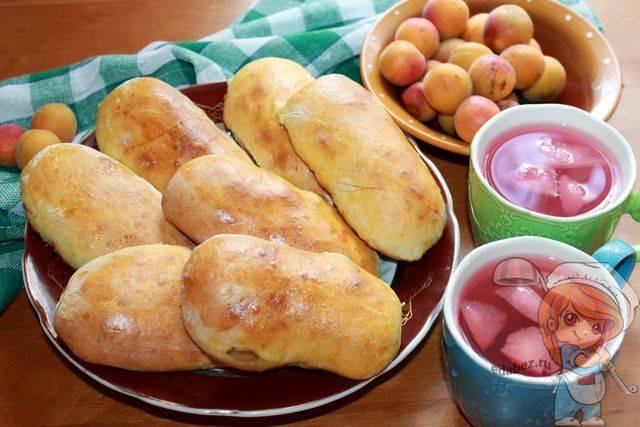 Пирожки с вишней и абрикосом