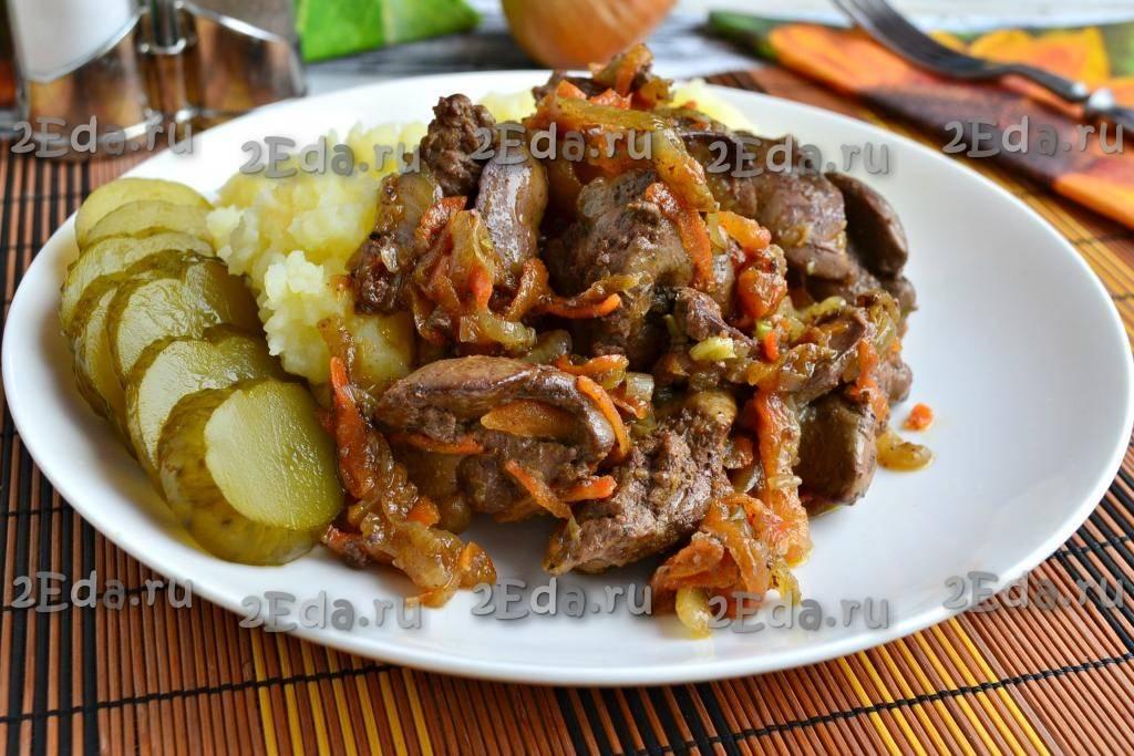 Куриная печень жареная с луком/ рецепт с фото