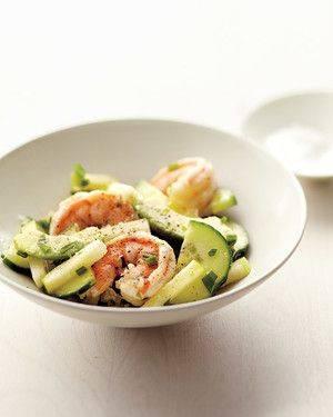 Изысканный салат с авокадо и креветками от Марты Стюарт