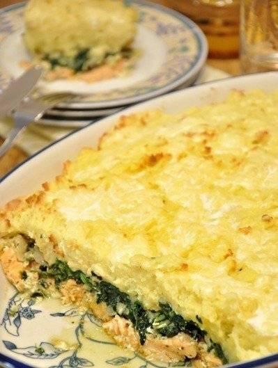 Пирог с капустой, яйцами и шпинатом