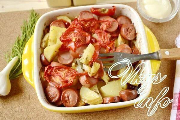 Как приготовить картошку с сосисками в горшочках? пошаговый рецепт с фото.