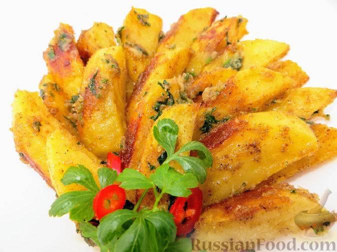 Картофель, запеченный с чесночным маслом