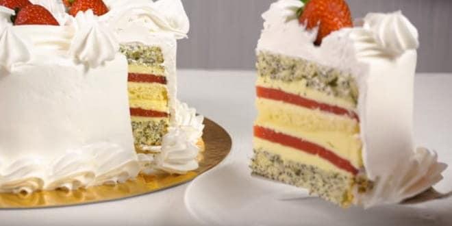 Бисквитный торт с фруктами— очень вкусный и простой рецепт