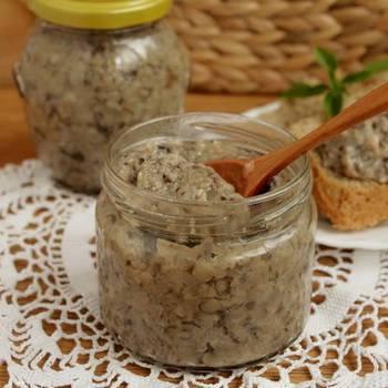 Икра грибная на зиму, рецепт через мясорубку с пошаговым фото