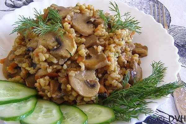 Булгур с грибами - рецепт с фото