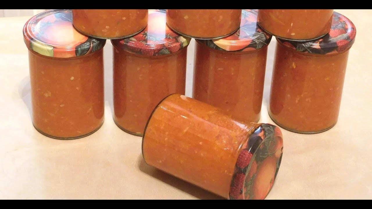 Аджика из кабачков с томатной пастой на зиму - 5 пошаговых фото в рецепте