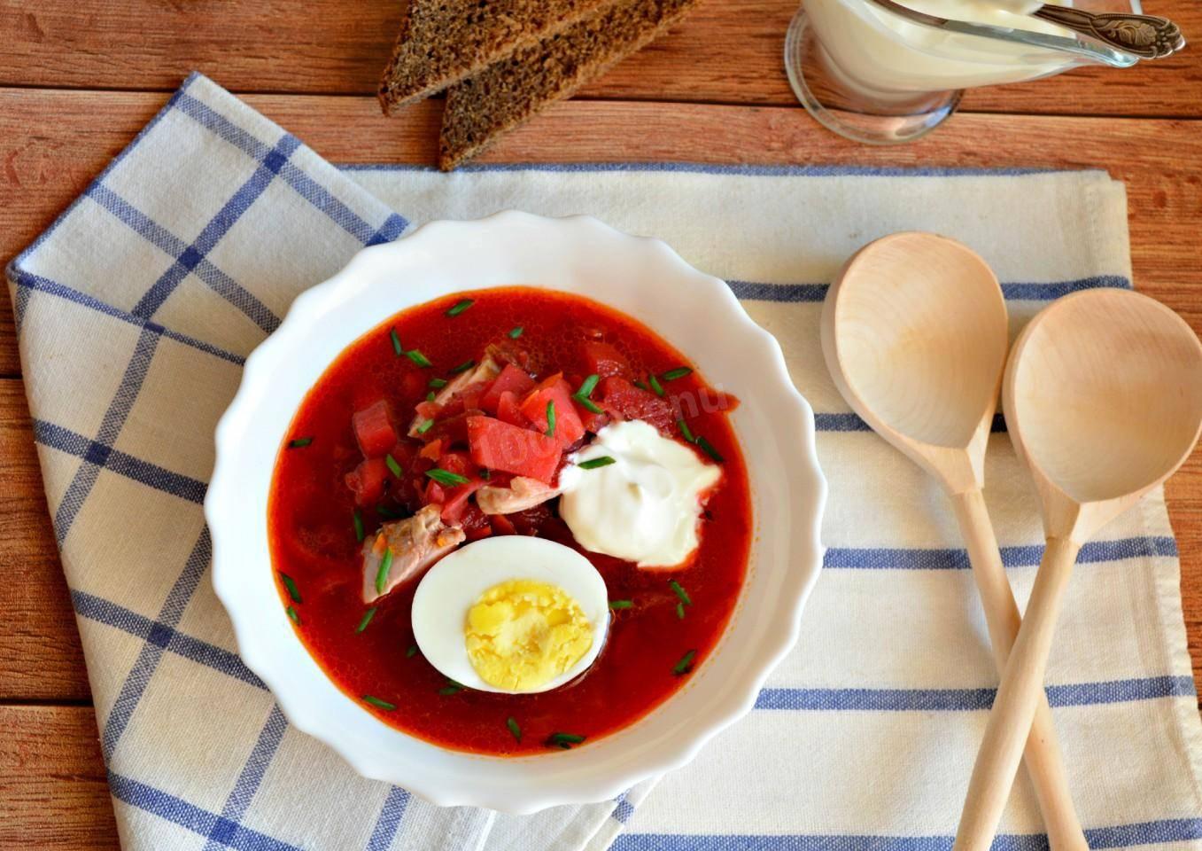 Рецепт с фото суп свекольник рецепт с фото