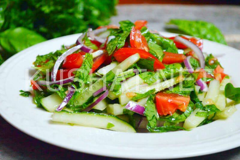 Салат из шпината рецепт приготовления