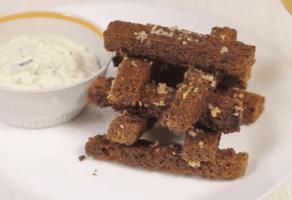 Сухарики с чесноком - рецепты джуренко