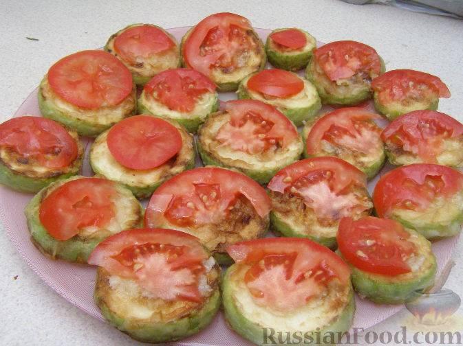 Закуска из кабачков и помидоров с чесноком - 13 пошаговых фото в рецепте