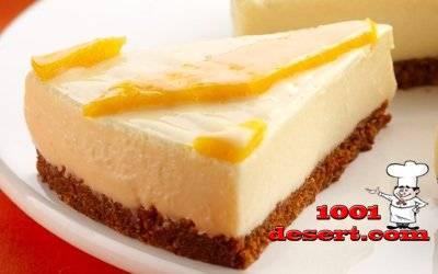 Желейный торт без выпечки с апельсиновым вкусом   страна мастеров