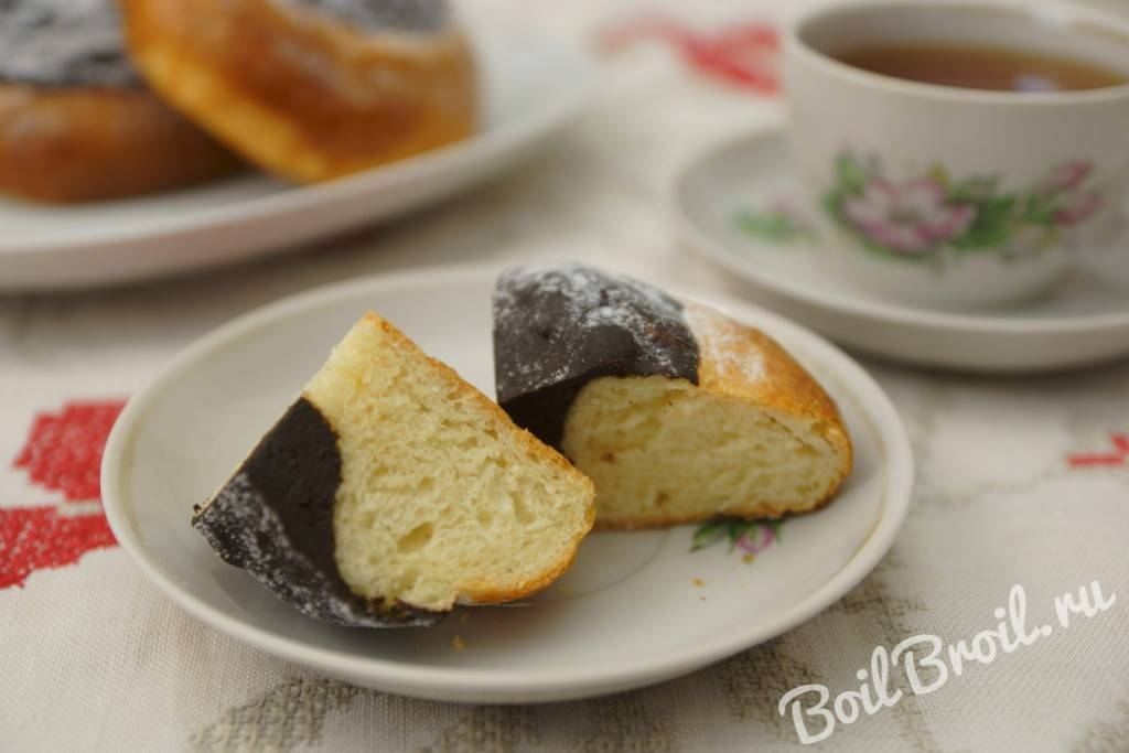 Швейцарские булочки с заварным кремом и шоколадом