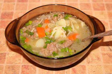 Суп с индейкой и рисом