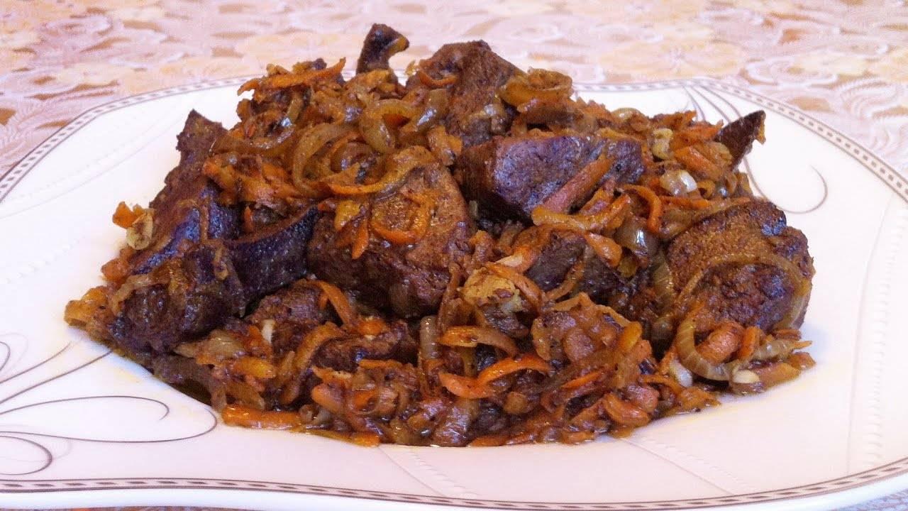 Жареная куриная печень с луком и морковью. пошаговый рецепт с фото