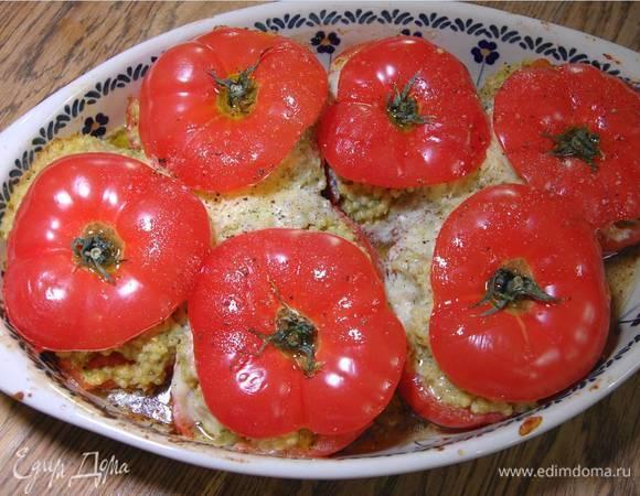 Фаршированные помидоры с потрясающей сырной начинкой