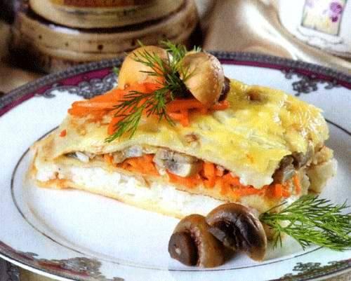 Лазанья с курицей и грибами: из лаваша, блинов и традиционная