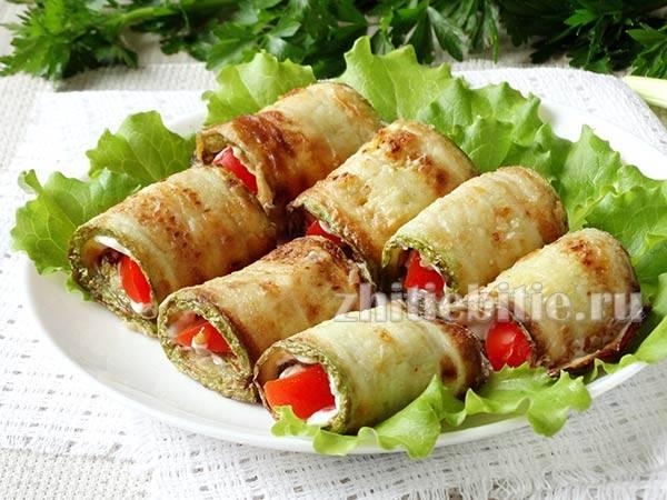 Рулет из кабачков - очень вкусные блюда для любого стола