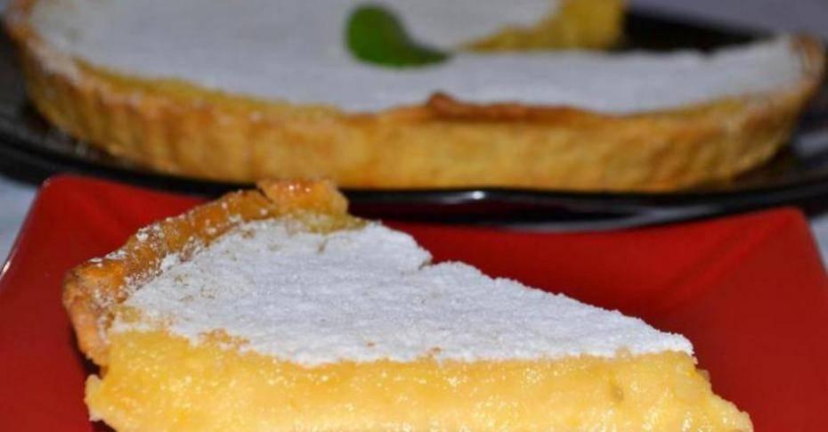 Лимонный французский пирог