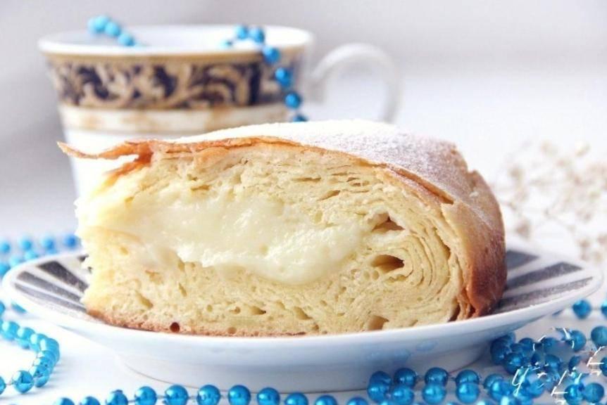 Рецепт: фытыр – египетский пирог с кремом. вкус египетских ночей с цветущим садом