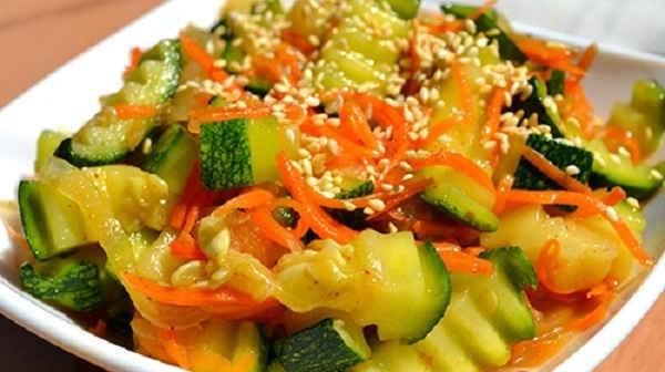 Кабачки по-корейски быстрого приготовления. пошаговый рецепт с фото