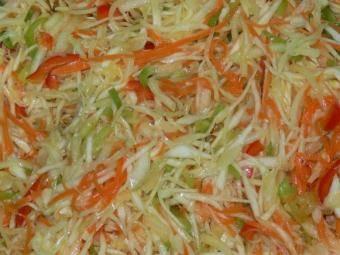 Легкий овощной салат на скорую руку