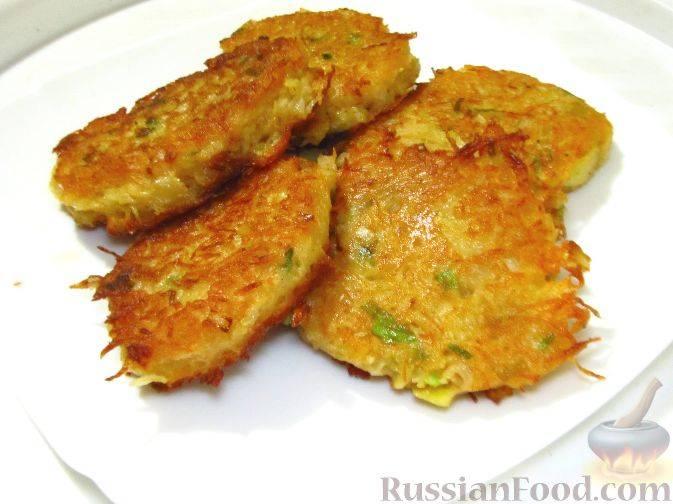 Картофельные оладьи с бататом и сыром