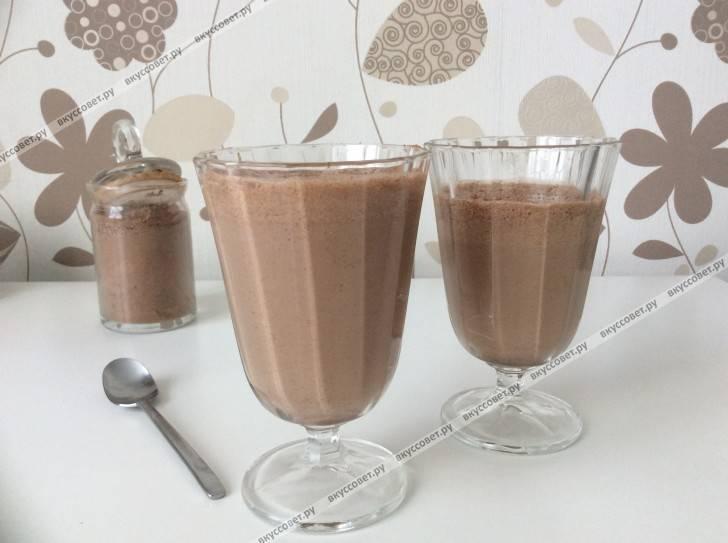 Холодный арбузно-шоколадный десерт