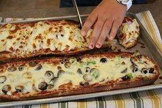Пицца с грибами — рецепт в домашних условиях в духовке