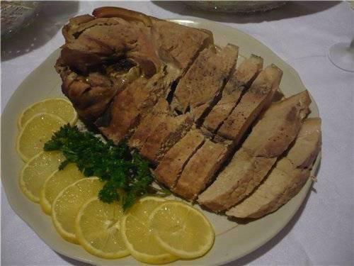 Рулет из мяса зайца