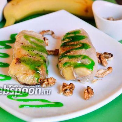 Сладкие суши роллы с бананами