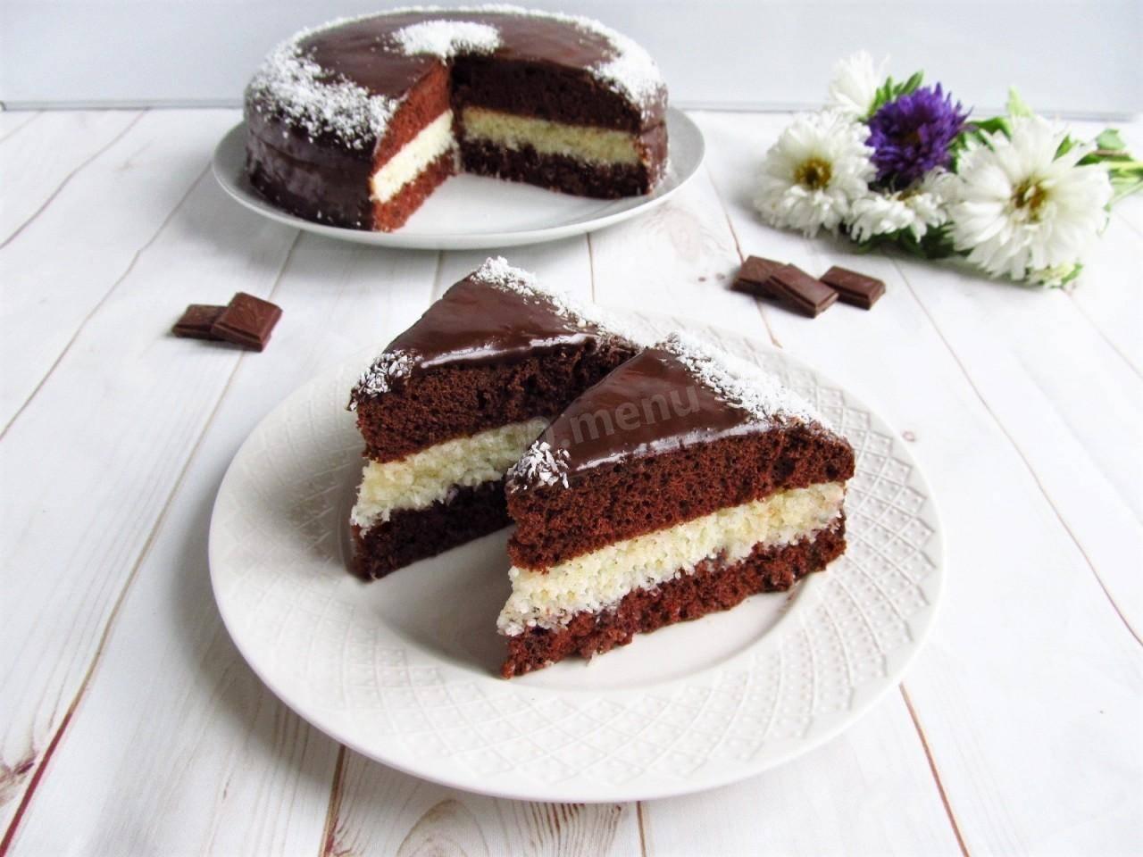 Легкий шоколадный бисквит