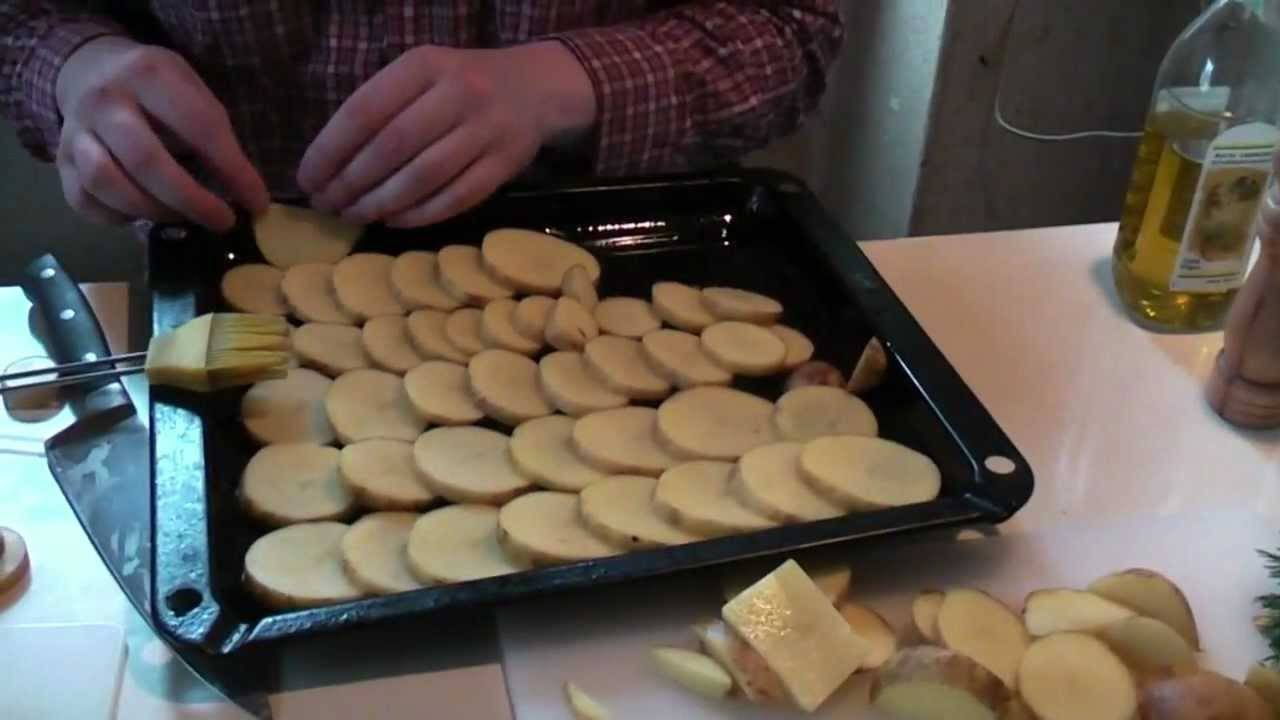 Картофельные дольки в беконе с розмарином