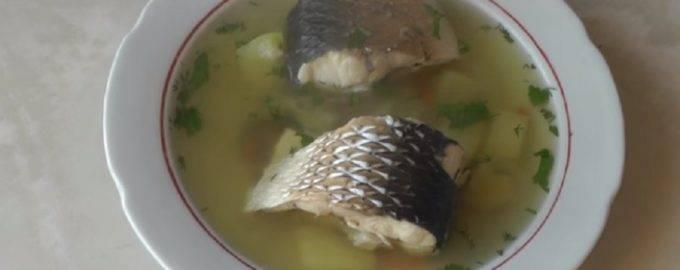 Рыбный суп с консервированной горбушей и рисом